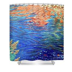 Copper Flow Shower Curtain
