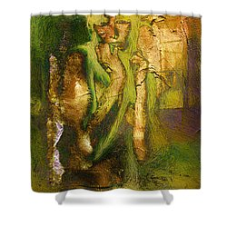 Copper Hair Shower Curtain by Andrea Barbieri