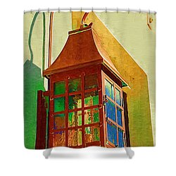 Copper Lantern Shower Curtain