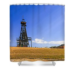Copper Mining In Montana Shower Curtain