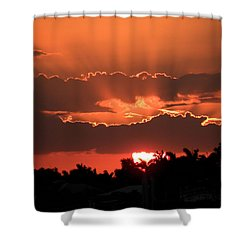 Copper Sunset Shower Curtain