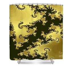 Copper Swirl Shower Curtain