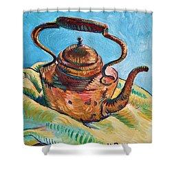 Copper Teapot Shower Curtain