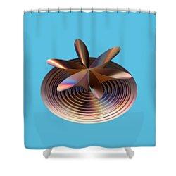 Copper Tones Shower Curtain
