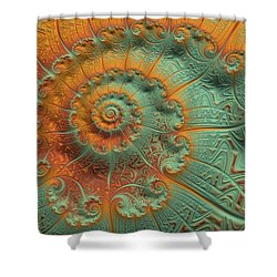 Copper Verdigris Shower Curtain