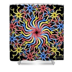 Copperhead Mandala Shower Curtain