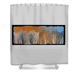Shower Curtain featuring the digital art Coppertone Fusion by Will Borden