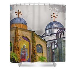 Coptic Church Rebirth Shower Curtain