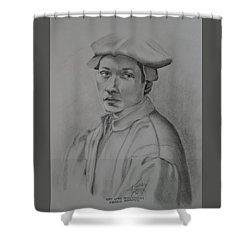 Copy After Michelangelo's Andreas Quaratesi Shower Curtain