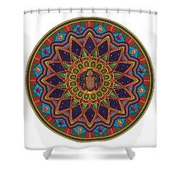 Coqui Mandala Shower Curtain by Daniel Ramirez