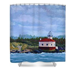 Shower Curtain featuring the painting Coquille Light by Nancy Jolley