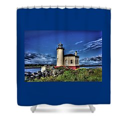 Shower Curtain featuring the photograph Coquille River Lighthouse by Thom Zehrfeld