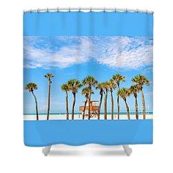 Shower Curtain featuring the photograph Coquina Beach Anna Maria Island by Margie Amberge