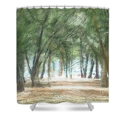 Coquina Beach Pines Shower Curtain
