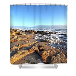 Coquina Carvings Shower Curtain