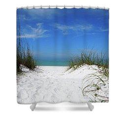 Coquina Dunes Shower Curtain