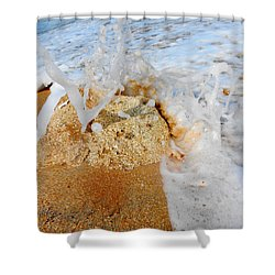 Coquina Waves Shower Curtain