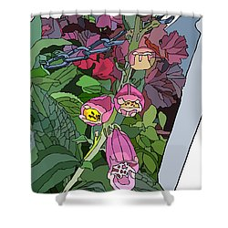 Coral Bells In The Garden Shower Curtain
