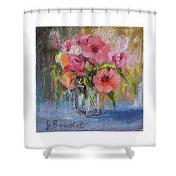 Coral Bouquet Shower Curtain