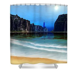 Coral Gables Shower Curtain by Corey Ford