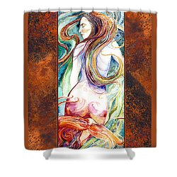 Coral Mermaid Shower Curtain