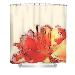 Coral Rhododendron Shower Curtain