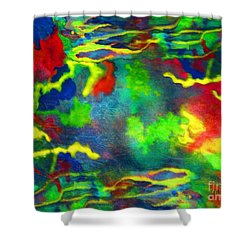 Coral Tides Shower Curtain