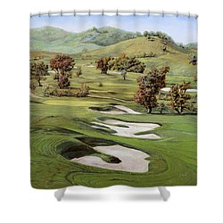 Cordevalle Golf Course Shower Curtain by Guido Borelli