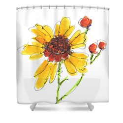 Coreopsis By Kathleen Mcelwaine Shower Curtain