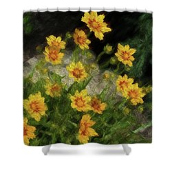 Coreopsis Tickseed Shower Curtain