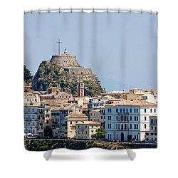 Corfu Old Fortress Shower Curtain