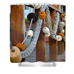 Corks Shower Curtain by Rick  Monyahan