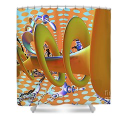 Corkscrew Shower Curtain by Melissa Messick