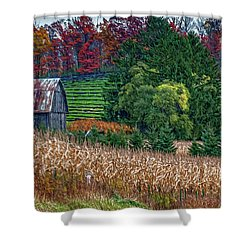 Corn And Ginseng On Poverty Hill Shower Curtain