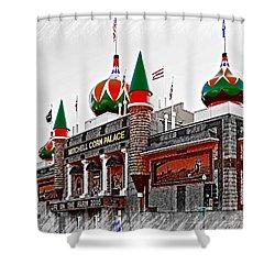 Corn Palace South Dakota Shower Curtain