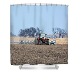 Corn Planting Shower Curtain