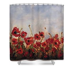 Corn Poppies In Remembrance Shower Curtain