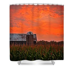 Shower Curtain featuring the photograph Corn by Randall  Cogle
