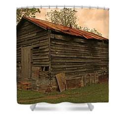 Corn Shed Shower Curtain