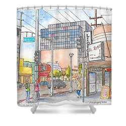 Corner 3rd St. And Orlando, Los Angeles, Ca Shower Curtain
