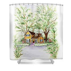 Corner Charmer Shower Curtain