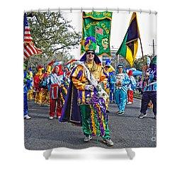 Corner Club 3 -mardi Gras New Orleans Shower Curtain by Kathleen K Parker