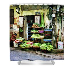 Corner Fresh Veggies Vietnam  Shower Curtain
