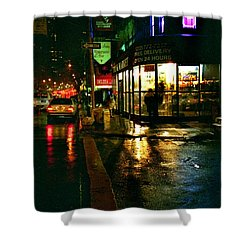 Shower Curtain featuring the photograph Corner In The Rain by Miriam Danar