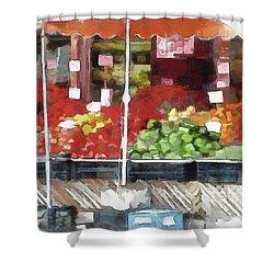 Corner Market Shower Curtain