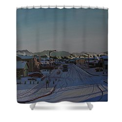 Corner Of 157th St. And 168th Ave. Shower Curtain by Thu Nguyen