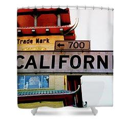 Corner Of California- Art By Linda Woods Shower Curtain