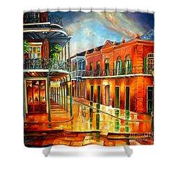 Corner Of Jackson Square Shower Curtain by Diane Millsap
