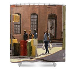 Corner Stop Shower Curtain