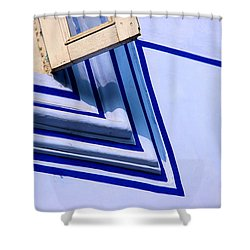 Shower Curtain featuring the photograph Cornering The Blues by Prakash Ghai
